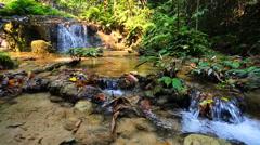 Wonderful waterfall in thailand, Pugang waterfall chiangrai Stock Footage