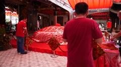 4k Ultra HD time lapse video Thian Hock Keng temple, Singapore Stock Footage