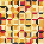 Abstract grunge cell seamless pattern Stock Illustration