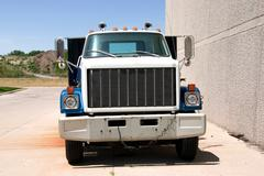 Flat Bed Truck Front Stock Photos