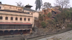 Pashupatinath Temple at Kathmandu in Nepal Stock Footage