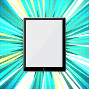 Abstract tablet PC Stock Illustration