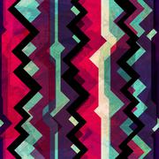 Abstract totem seamless pattern with grunge effect Stock Illustration