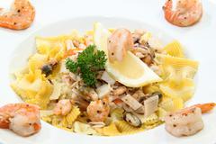 Seafood dinner Stock Photos