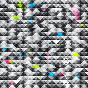 Abstract triangle grunge seamless pattern Stock Illustration