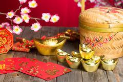 Chinese new year decorations ,chinese character symbolizes gong xi fa cai wit Kuvituskuvat