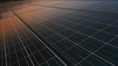 Solar panel plant, ecology power Stock Footage
