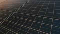 Solar panel plant, ecology power Stock Footage