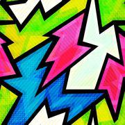 Graffiti seamless pattern Stock Illustration