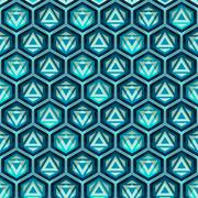 blue grid seamless pattern - stock illustration