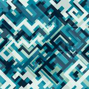 Blue tech seamless pattern Stock Illustration