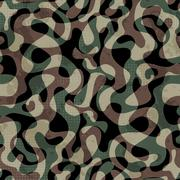 Camouflage seamless pattern with grunge effect Stock Illustration