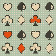 Card suit seamless Stock Illustration