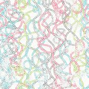 Colored rope seamless pattern Stock Illustration
