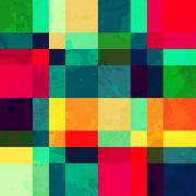 Colorful square seamless pattern with blob effect Stock Illustration