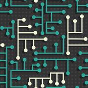 Electronic circuit pattern Stock Illustration