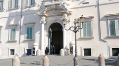 Quirinale Palace. Rome, Italy  Stock Footage