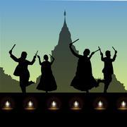 Night, moonlight, India gate, new delhi, india Stock Photos
