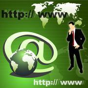 Business communication, internet syhmbol Kuvituskuvat