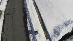 3212 Aerial Mail Boxes in Snow Zoom In, 4K Stock Footage