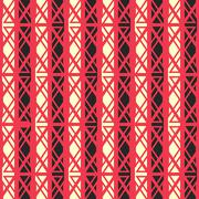 Red ancient seamless pattern Stock Illustration