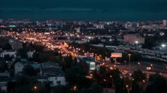 Moscow Evening Traffic TimeLapse Stock Footage