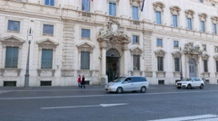 Consult Palace. Rome, Italy  Stock Footage