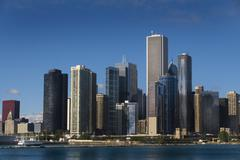 the skyline of chicago - stock photo