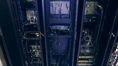 server hardware panorama - stock footage