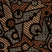 Mechanic geometric seamless pattern with rust effect Stock Illustration