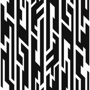 monochrome aztec geometric seamless pattern - stock illustration