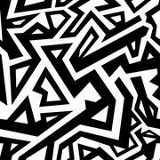 Monochrome aztec seamless pattern Stock Illustration