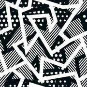 Stock Illustration of monochrome cloth seamless pattern