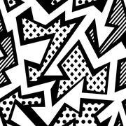 monochrome cloth seamless pattern - stock illustration