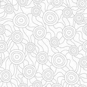 Monochrome fungus seamless pattern Stock Illustration