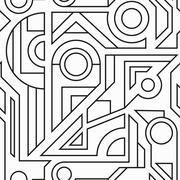 Monochrome geometric seamless texture Stock Illustration