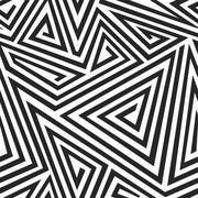 monochrome illusion seamless pattern - stock illustration
