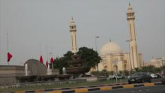 Al Fateh Grand Mosque in Bahrain Stock Footage