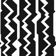 monochrome totem seamless pattern - stock illustration