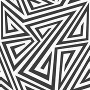 monochrome tribal seamless texture - stock illustration