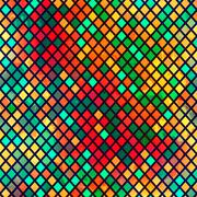 Stock Illustration of multicolor mosaic seamless pattern with grunge effect