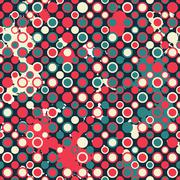 Red circless seamless pattern with blob effect Stock Illustration