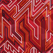 red circuit seamless pattern - stock illustration