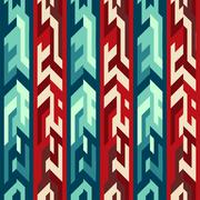 Red totem seamless pattern Stock Illustration