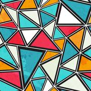 Triangle seamless pattern with grunge effect Stock Illustration