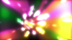 Colorful Wormhole Tunnel Warp Stock Footage