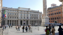 Stock Video Footage of Piazza Colonna, Rome, Italy