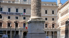 Stock Video Footage of Colonna di Marco Aurelio. Piazza Colonna, Rome, Italy