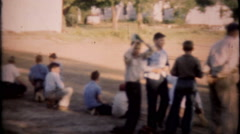 1859 sandlot baseball game in small town - vintage film home movie Arkistovideo