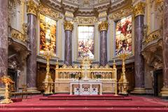 BERLIN, GERMANY - JULY 22: Altar of Berliner Dom, biggest protestant church o - stock photo